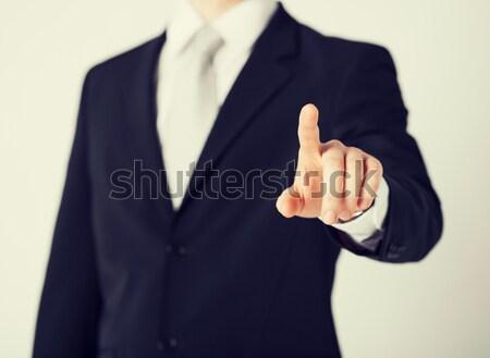man showing middle finger Stock photo © dolgachov