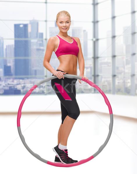 Młodych kobieta fitness sportu Zdjęcia stock © dolgachov