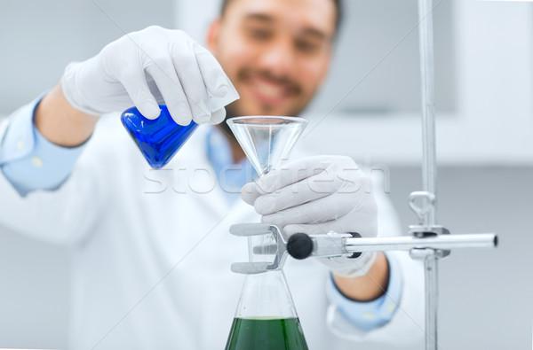 Stockfoto: Wetenschapper · test · trechter · wetenschap