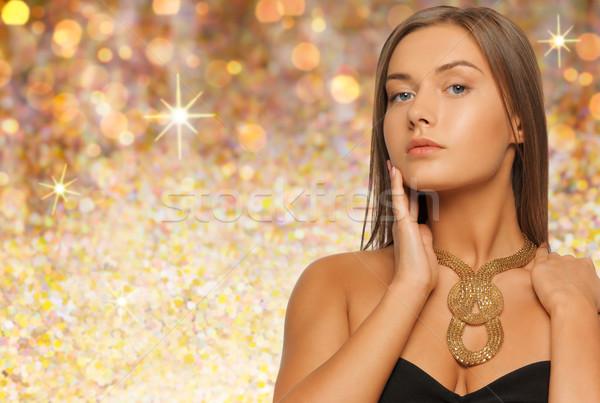 女性 着用 ネックレス 休日 ライト ストックフォト © dolgachov