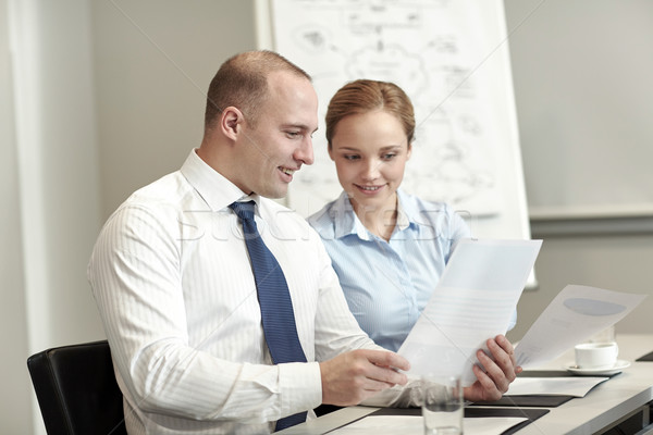 Sonriendo gente de negocios reunión oficina equipo de negocios Foto stock © dolgachov