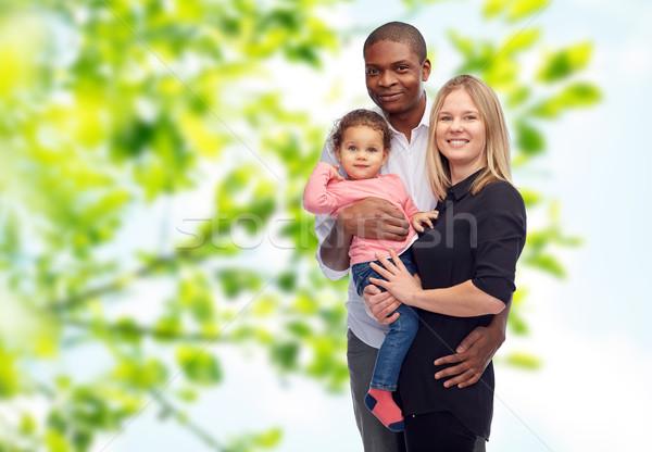 счастливым семьи мало ребенка детей гонка Сток-фото © dolgachov