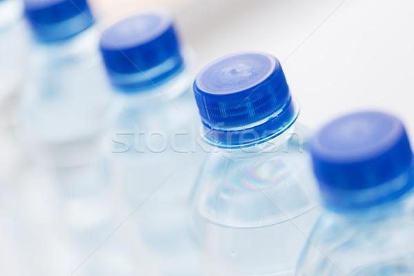 Plastic flessen drinkwater recycling gezond eten Stockfoto © dolgachov