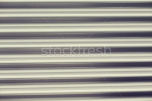close up of aluminum metal garage door backdrop Stock photo © dolgachov