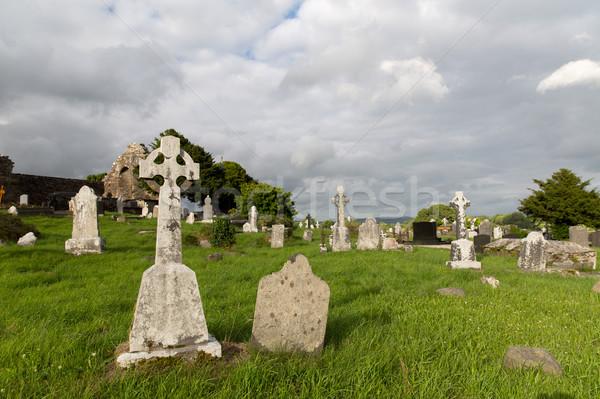 古い ケルト 墓地 墓地 アイルランド 古代 ストックフォト © dolgachov