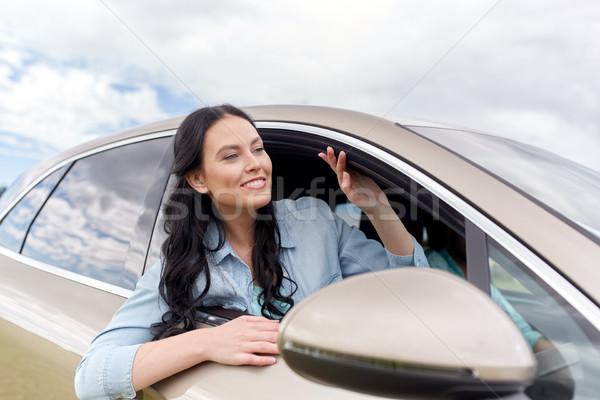 счастливым вождения автомобилей Летние каникулы праздников Сток-фото © dolgachov
