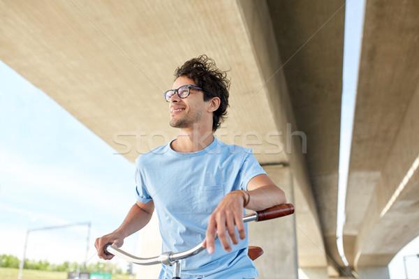 молодые человека верховая езда зафиксировано Gear Сток-фото © dolgachov