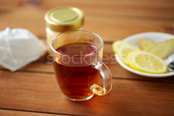 茶碗 レモン はちみつ 健康 伝統的な 薬 ストックフォト © dolgachov