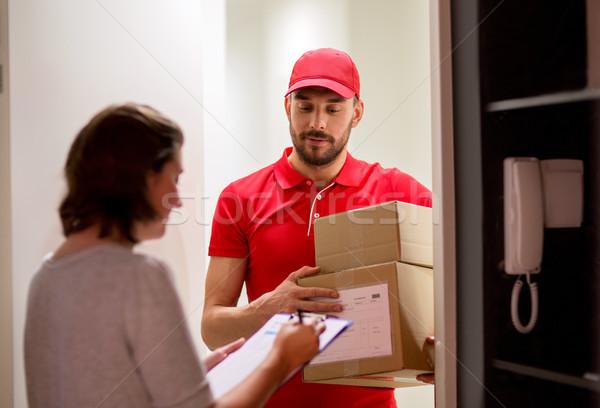 Сток-фото: клиентов · коробки · почты · люди