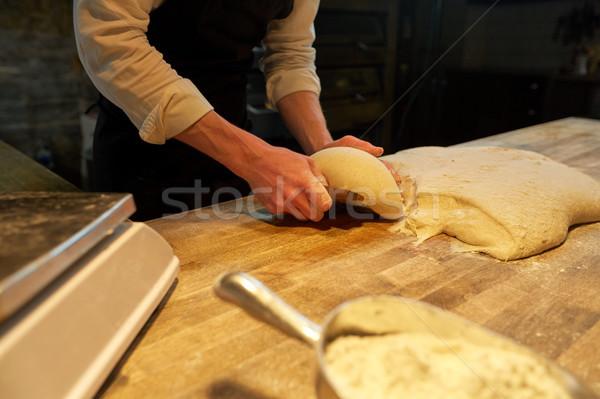 Padeiro banco padaria comida cozinhar Foto stock © dolgachov