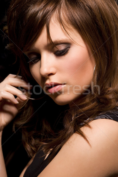 young beautiful woman face Stock photo © dolgachov
