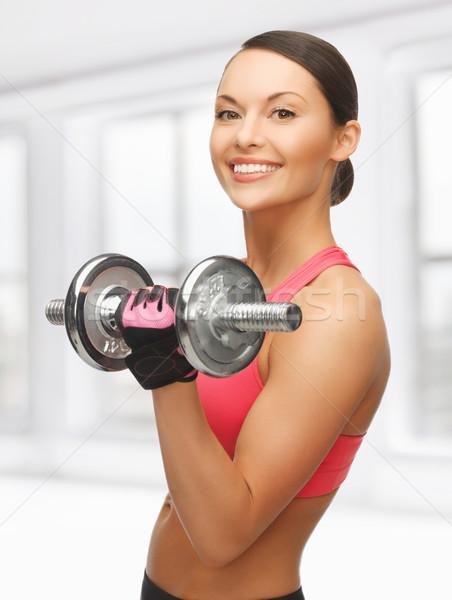 Mujer Foto hermosa deportivo deporte Foto stock © dolgachov