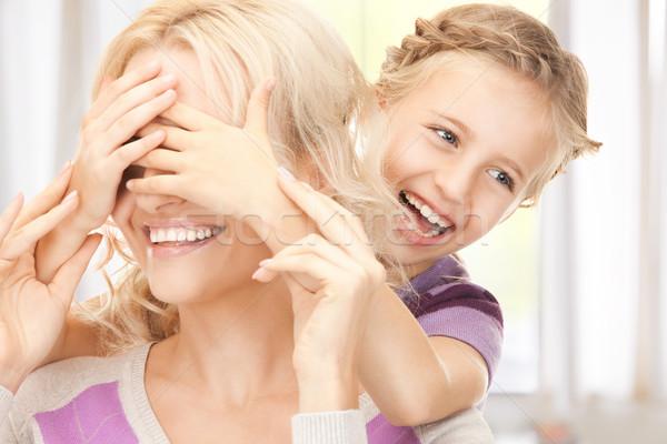 ストックフォト: 幸せ · 母親 · 女の子 · 明るい · 画像 · 少女