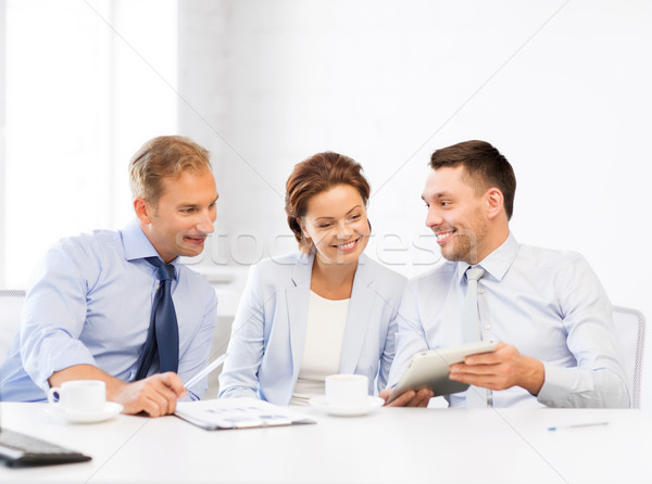 Equipo de negocios oficina feliz negocios Foto stock © dolgachov