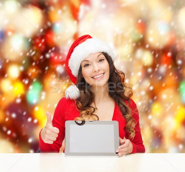 Vrouw helper hoed christmas Stockfoto © dolgachov