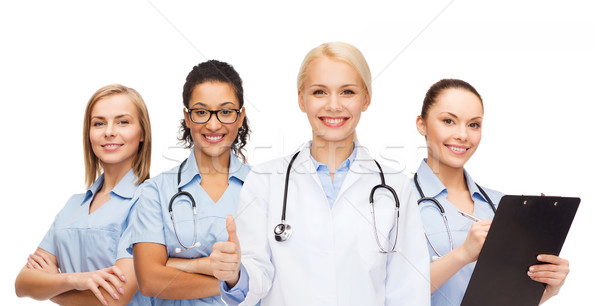 Stock photo: team or group of doctors and nurses