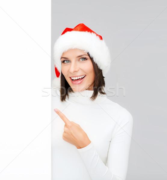 Сток-фото: женщину · помощник · Hat · Рождества