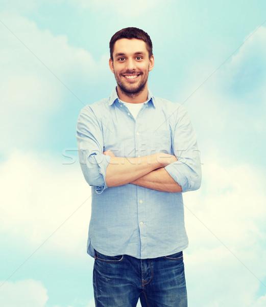 улыбаясь человека оружия счастье люди бизнеса Сток-фото © dolgachov