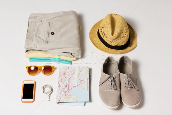 лет одежды путешествия карта таблице Сток-фото © dolgachov