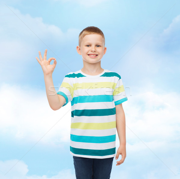 Pequeno menino casual roupa Foto stock © dolgachov