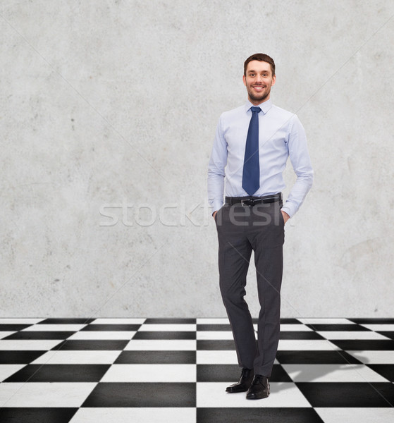 happy smiling businessman in shirt and tie Stock photo © dolgachov
