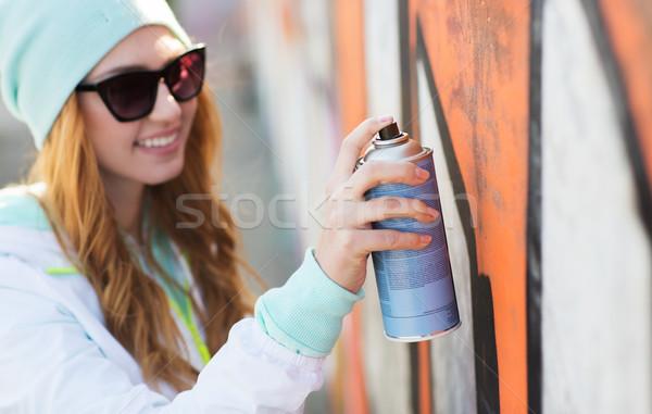 女性 スプレー式塗料 落書き 人 ストックフォト © dolgachov