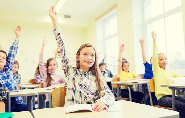Zdjęcia stock: Grupy · szkoły · dzieci · ręce · klasie · edukacji