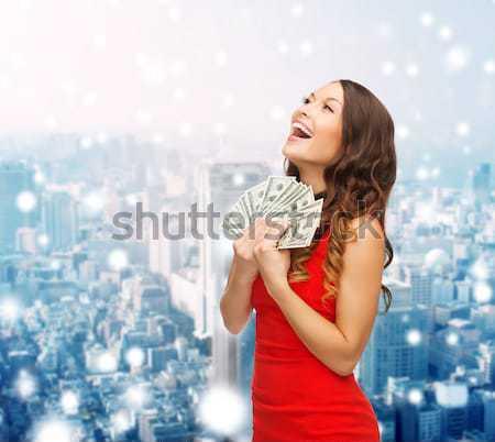beautiful sexy woman with champagne glass Stock photo © dolgachov