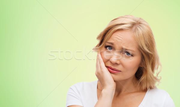 Infelice donna sofferenza mal di denti persone sanitaria Foto d'archivio © dolgachov