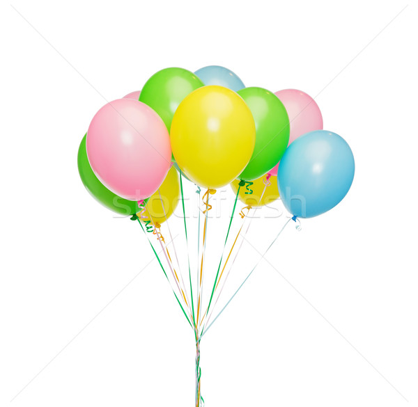 bunch of inflated helium balloons Stock photo © dolgachov