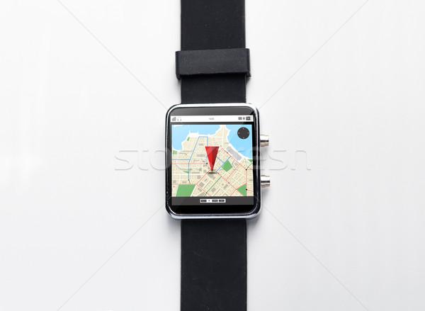 Smart oglądać GPS Pokaż nowoczesne Zdjęcia stock © dolgachov