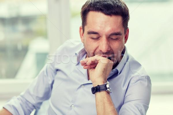 ásít fáradt férfi otthoni iroda emberek fáradtság Stock fotó © dolgachov