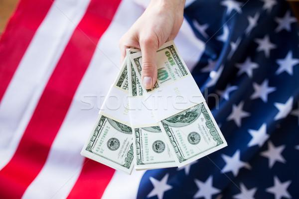 стороны деньги американский флаг коррупция Сток-фото © dolgachov