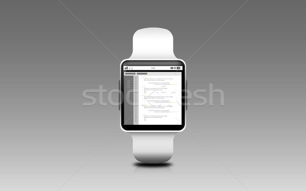 illustration of smart watch with coding on screen Stock photo © dolgachov