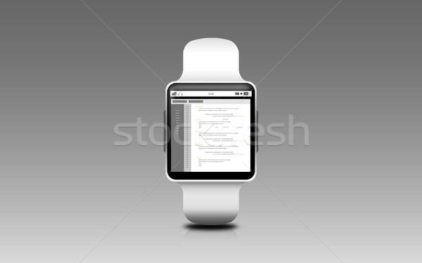 Illusztráció okos óra kódolás képernyő modern Stock fotó © dolgachov