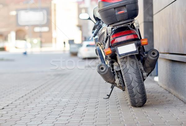 Moto rue de la ville transport véhicule Voyage Photo stock © dolgachov