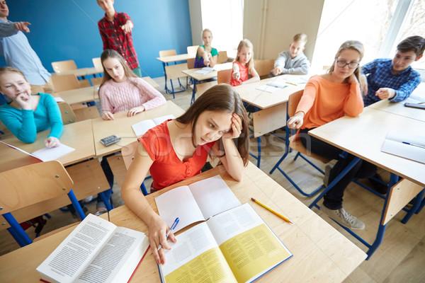 студентов за одноклассник назад школы Сток-фото © dolgachov