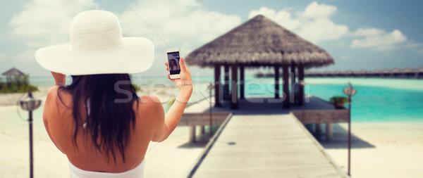 Sorridere smartphone stile di vita tempo libero Foto d'archivio © dolgachov
