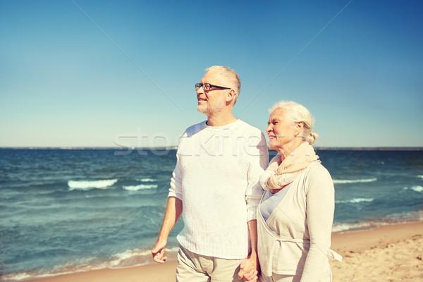 Stockfoto: Gelukkig · lopen · zomer · strand · familie