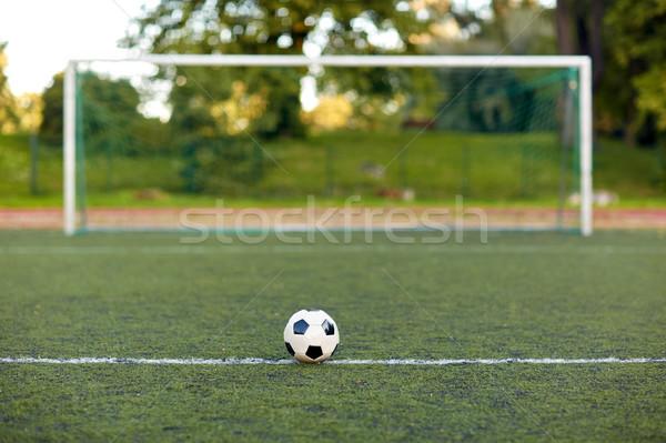 Futballabda gól futballpálya sport futball játék Stock fotó © dolgachov