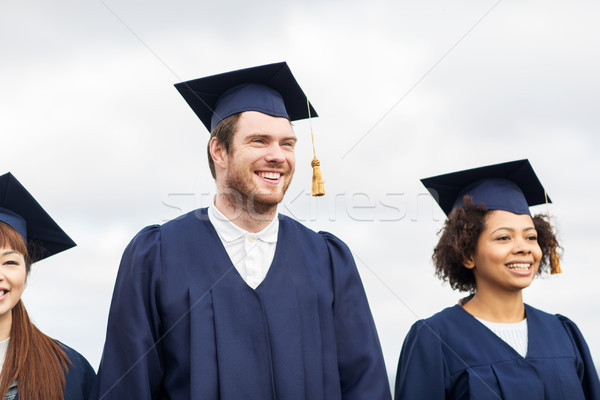 Gelukkig studenten bachelors onderwijs afstuderen mensen Stockfoto © dolgachov