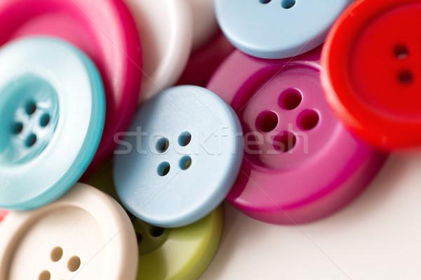 Naaien knoppen handwerk witte Stockfoto © dolgachov
