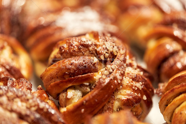 close up of buns or pies at bakery Stock photo © dolgachov