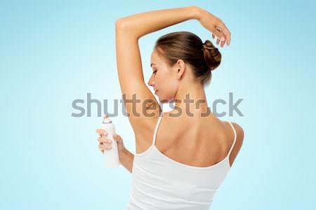 Mulher desodorante branco beleza higiene Foto stock © dolgachov