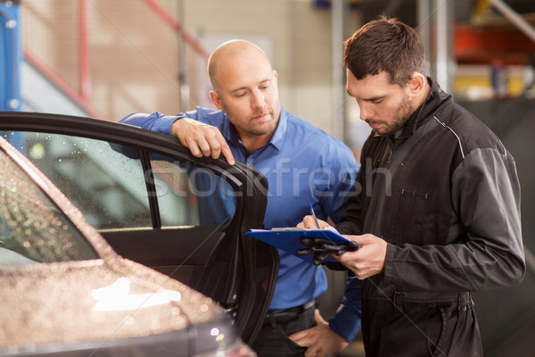 Autószerelő vásárló autó bolt autó szolgáltatás Stock fotó © dolgachov