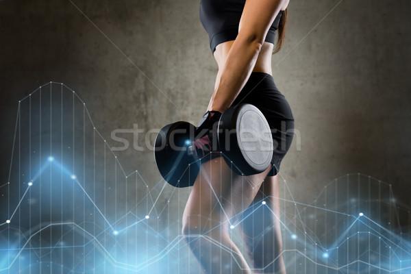 Donna palestra sport fitness bodybuilding Foto d'archivio © dolgachov