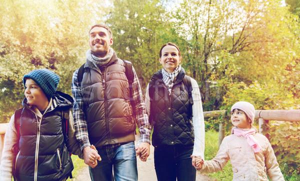 Сток-фото: счастливая · семья · походов · путешествия · туризма · поход · люди