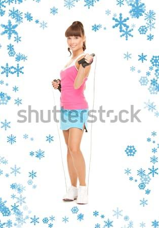 girl in pink dress and golden platform shoes Stock photo © dolgachov