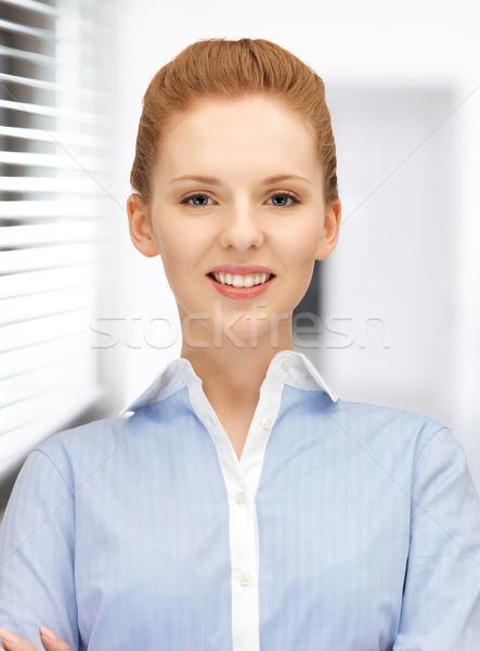 ストックフォト: 幸せ · 笑顔の女性 · 明るい · 画像 · 女性 · オフィス