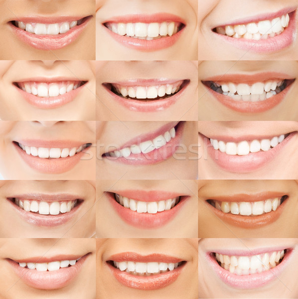 examples of female smiles Stock photo © dolgachov